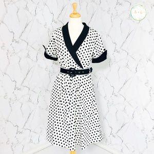 Lindy Bop Vivian Polka Dot Swing Dress